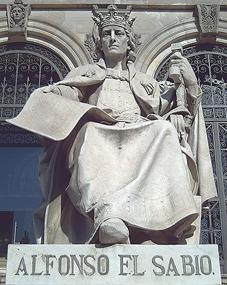Alfonso X of Castile - Statue of Alfonso X in Madrid by José Alcoverro (1892).