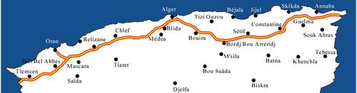Carte Algerie Autoroute Est Ouest.Autoroute Est Ouest Wikipedia