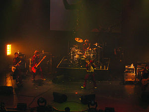 A9 (band) - A9 performing at the Wiltern Theatre 2007. From left to right: Tora, Saga, Nao, Shou, Hiroto