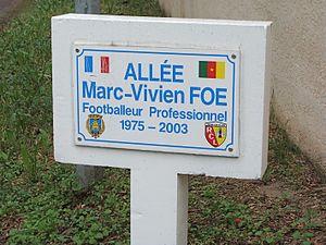 Marc-Vivien Foé - Marc-Vivien Foé streetway, between Louvre-Lens and Bollaert stadium (Lens)