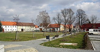 Dalešice (Třebíč District) - Town square