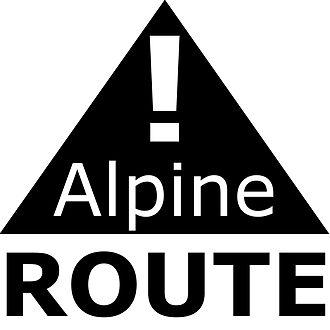 Alpine route - Warning marking of Alpine routes by the Alpine clubs