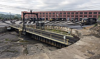 Altoona Works - The turntable at the Altoona Works in 2014