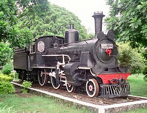 Ambarawa Railway Museum - B 5112, one of the preserved steam locomotive in the Ambarawa Railway Museum.