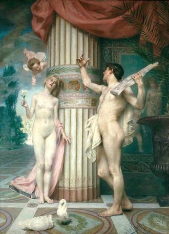 Veloso Salgado - Amor and Psyche (1891), National Museum of Contemporary Art