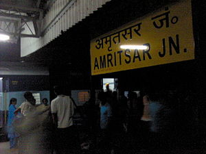 Amritsar Junction railway station - Station board