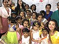 Amy Jackson at Sneha Sagar Orphanage in Mumbai in 2016.jpg