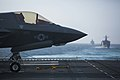 An F-35B Lightning II is photographed aboard USS Essex. (41823711692).jpg