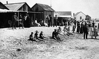 California Historical Landmarks in Orange County - Image: Anaheim Landing Seal Beach 1890