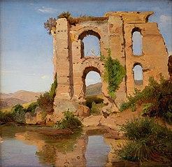 The Ruins of the Aqueduct Aniene Nuovo near Tivoli