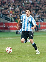 Angel Di Maria – Portugal vs. Argentina, 9th February 2011 (cropped).jpg