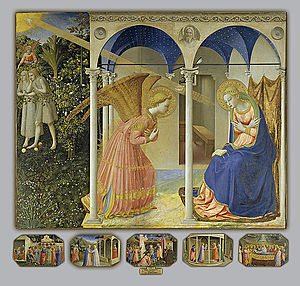 Annunciation (Fra Angelico, Madrid) - The retable in its entirety