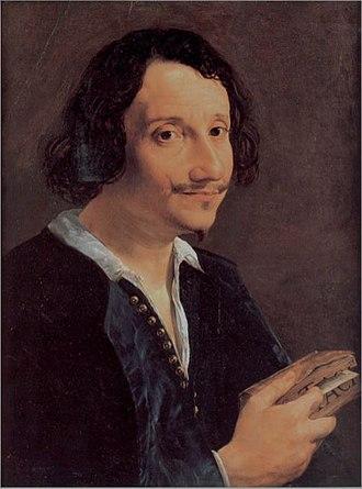 Giambattista Andreini - Portrait of Giambattista Andreini reading a book by Tacitus by Angelo Caroselli