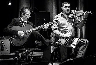 2016 in jazz - Angelo Debarre Quartet performs at Cosmopolite venue in Oslo, Norway  during the Django festival 2016.