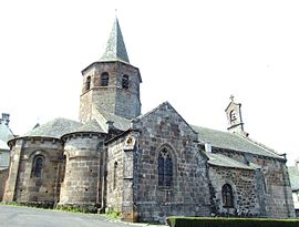 The church of Saint-Thyrse, in Anglards-de-Salers