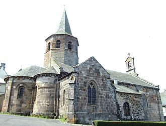 Anglards-de-Salers - The church of Saint-Thyrse, in Anglards-de-Salers