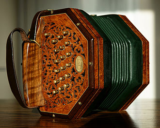 Anglo concertina - A 37 key Anglo concertina manufactured by Colin and Rosalie Dipper.
