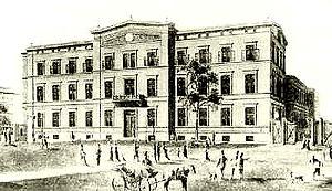 Berlin Anhalter Bahnhof - The 1841 frontage.