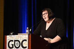 Anna Anthropy - Anna Anthropy speaking at the 2013 Game Developers Conference