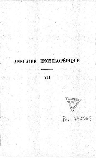 File:Annuaire encyclopédique, VII.djvu