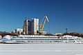 Anton Chekhov in Winter at Moscow North River Port Port View 10-feb-2015 01.jpg