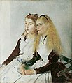 Anton Romako - The Artist's Nieces, Elisabeth and Maja - Belvedere 8557.jpg