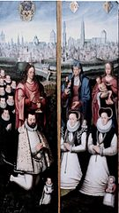 Portraits of Juan II Pardo and his Wives Anna Ingenieulandt and Maria Ancheman