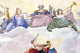 The Apotheosis of Washington - Detail showing George Washington