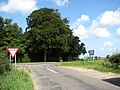 Approach to the A148 near Hurrel's Grove - geograph.org.uk - 550587.jpg