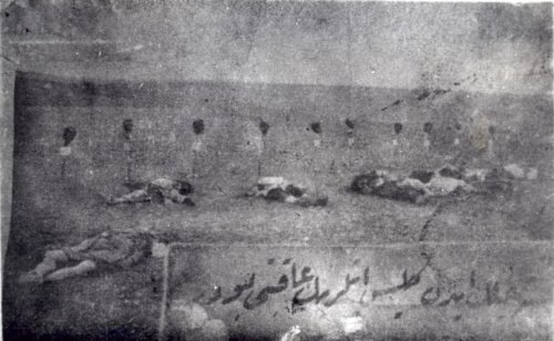 Armenian Genocide heads decapitated