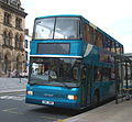 Arriva bus 7457 DAF DB250 Optare Spectra L94 HRF in Darlington 5 May 2009 pic 2.JPG