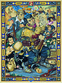 Arthur Szyk (1894-1951). Samson in the Ghetto (1945), New York.jpg
