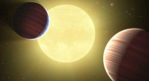 Kepler-9 - Image: Artists impression Kepler 9