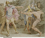 Asmus Jakob Carstens - Philoctetes aiming the bow of Hercules at Odysseus - Google Art Project.jpg
