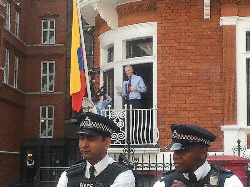 File:Assange speech at Ecuador embassy.jpg