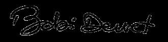 Babi Dewet - Image: Assinatura babi 1