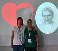 Astrid Carlsen and Sabine Rønsen at Wikimania 2019.jpg