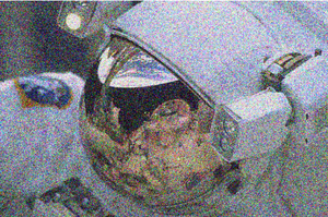 Wiener filter - Noisy image of astronaut.