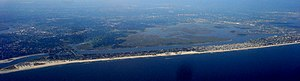 Hempstead, New York - Image: Atlantic Beach and Long Beach Aeriel View