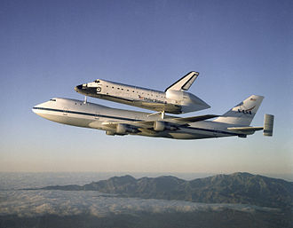 Aeronautics - Space Shuttle ''Atlantis'' on a Shuttle Carrier Aircraft.