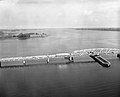 Atlas 84F to 556-2(PAFB); On Lake Champlain Bridge, New York Side; Aerial View North to Ft. Montgomery of Canada. Date- 07-26-1962 (21007981063).jpg