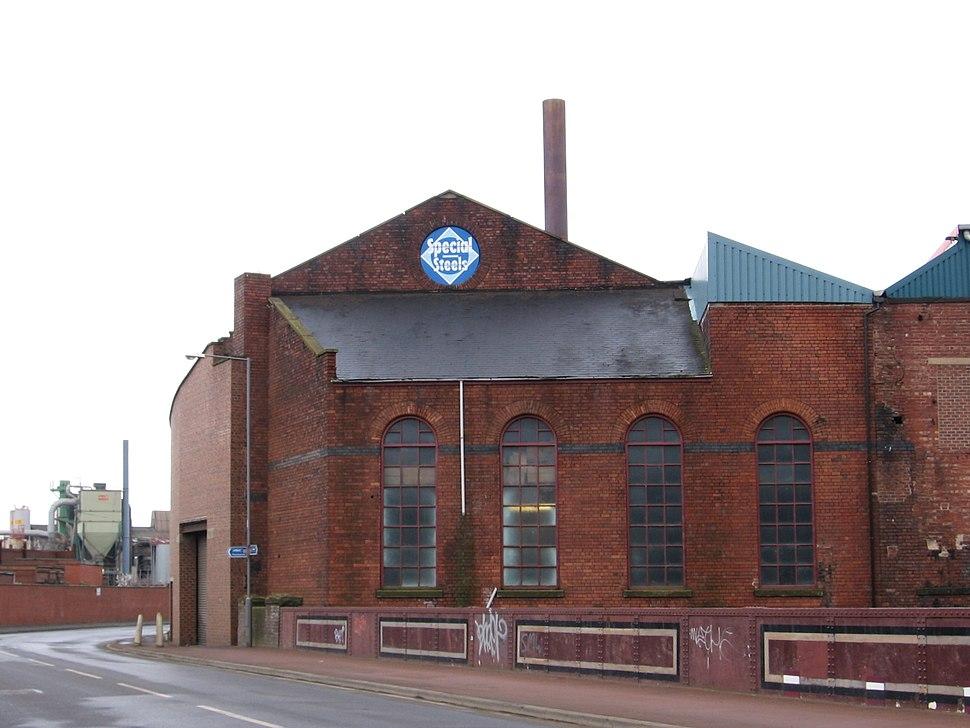 Attercliffe - Steelworks at East Coast Road Bridge