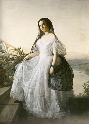 Auguste François Biard - Retrato de mulher