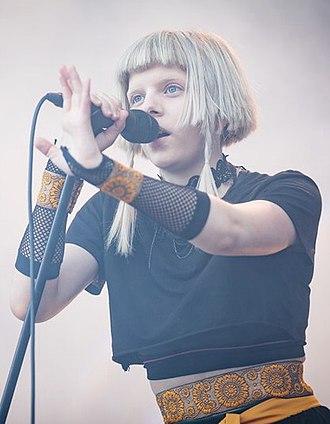 Aurora (singer) - Aurora performing in 2018 at Stavernfestivalen in Norway.  Photo: Tore Sætre