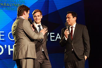 Evan O'Hanlon - O'Hanlon interviewed after receiving the award for 2012 Male Athlete of the Year at the Australian Paralympian of the Year ceremony
