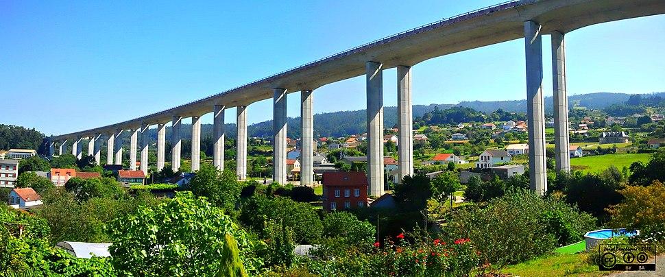 Autopista AP9 sobre Fene, A Coruña - panoramio