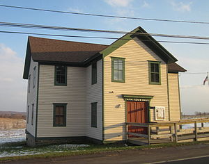 National Register of Historic Places listings in Oneida County, New York - Image: Ava Town Hall Ava NY Jan 12