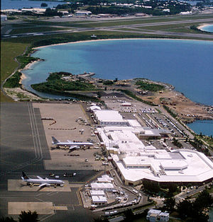 L.F. Wade International Airport - Aerial view of Terminal