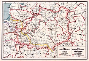 Western Belorussia - Map of the Belarusian Democratic Republic, 1918