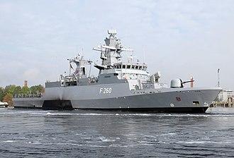 Braunschweig-class corvette - Image: BRAUNSCHWEIG 3012